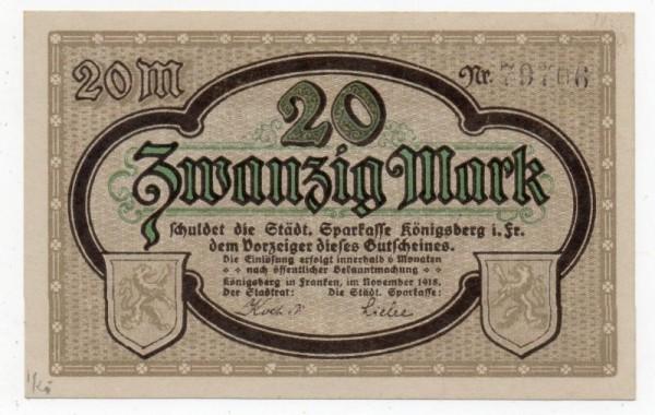 11/18, Reststück KN schwarz - (Sie sehen ein Musterbild, nicht die angebotene Banknote)