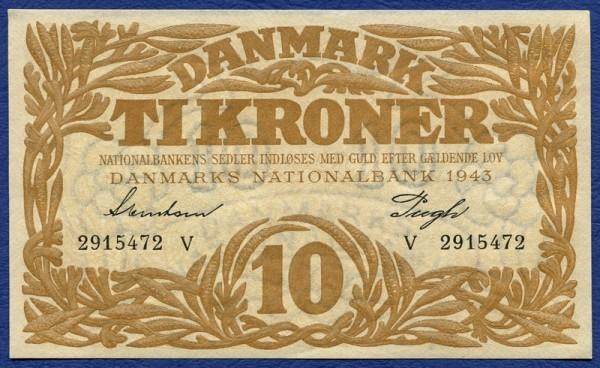 1943V - (Sie sehen ein Musterbild, nicht die angebotene Banknote)