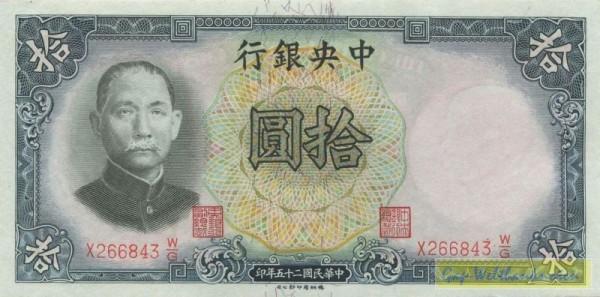 1936, Us.9, TDLR - (Sie sehen ein Musterbild, nicht die angebotene Banknote)