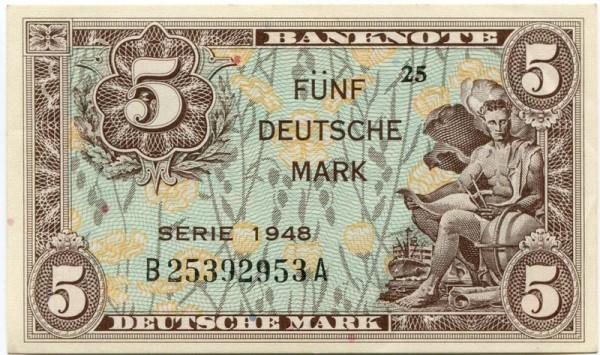 1948, B/A - (Sie sehen ein Musterbild, nicht die angebotene Banknote)
