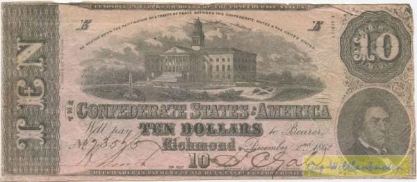 2.12.1862,3.Serie, B.Duncan - (Sie sehen ein Musterbild, nicht die angebotene Banknote)