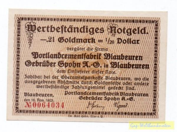 16.11.23 - (Sie sehen ein Musterbild, nicht die angebotene Banknote)