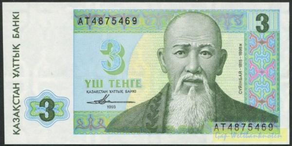 1993, Druck БФ НБРК - (Sie sehen ein Musterbild, nicht die angebotene Banknote)