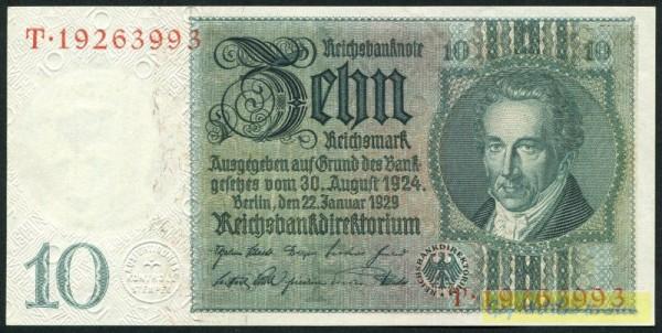 22.1.29, Friedensdruck - (Sie sehen ein Musterbild, nicht die angebotene Banknote)