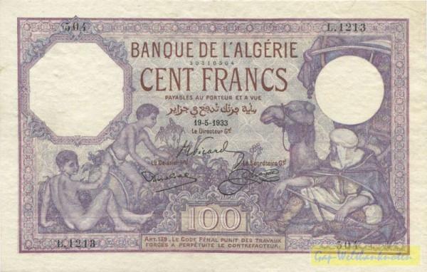 1928 - 1938 - (Sie sehen ein Musterbild, nicht die angebotene Banknote)
