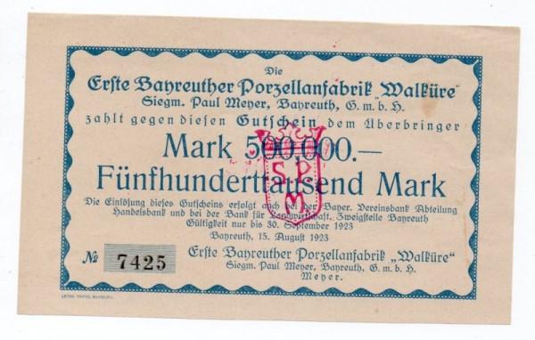 15.8.23; Drfa. 16 mm - (Sie sehen ein Musterbild, nicht die angebotene Banknote)