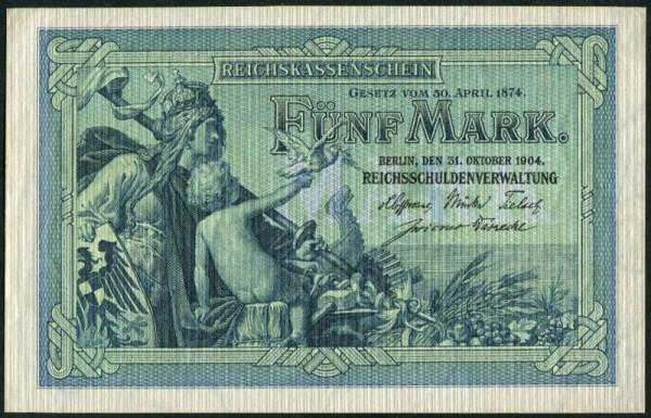 31.10.04, KN 6st - (Sie sehen ein Musterbild, nicht die angebotene Banknote)