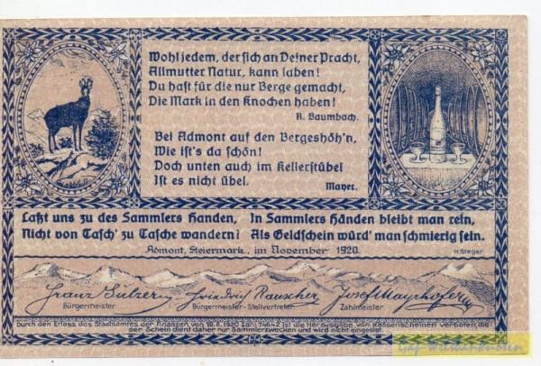 Dr. bds. blau, Bild braun-rotlila - (Sie sehen ein Musterbild, nicht die angebotene Banknote)