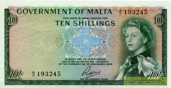 L1949 - (Sie sehen ein Musterbild, nicht die angebotene Banknote)
