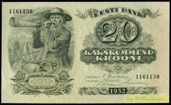 1932 - (Sie sehen ein Musterbild, nicht die angebotene Banknote)
