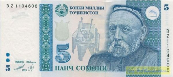 1999, BZ KN = Ersatznote - (Sie sehen ein Musterbild, nicht die angebotene Banknote)