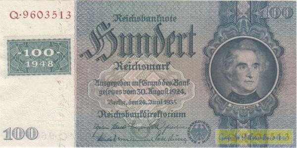 Marke auf 176a - (Sie sehen ein Musterbild, nicht die angebotene Banknote)