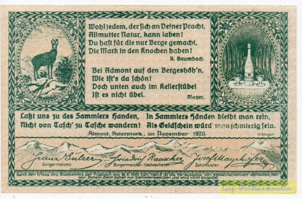Dr. bds. grün, Bild braun - (Sie sehen ein Musterbild, nicht die angebotene Banknote)