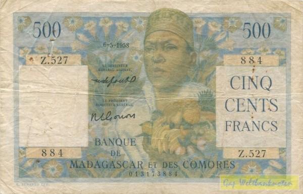 Le Directeur Général Adjoint, Hftl. - (Sie sehen ein Musterbild, nicht die angebotene Banknote)