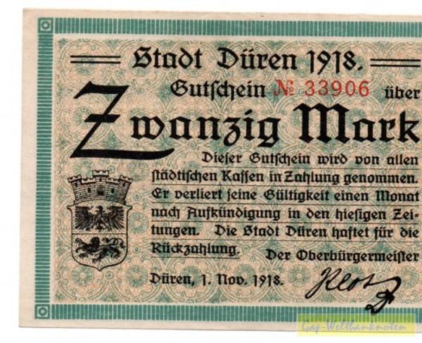 1.11.18 - (Sie sehen ein Musterbild, nicht die angebotene Banknote)