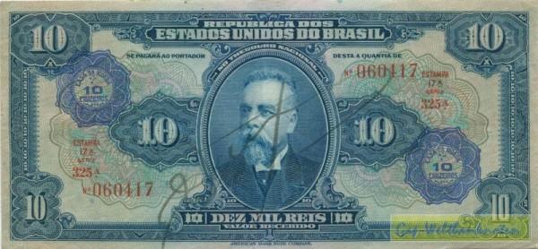 Üdr. auf Nr.39c - (Sie sehen ein Musterbild, nicht die angebotene Banknote)