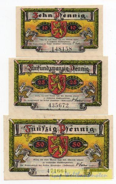 1921, 10, 25, 50 Pf, ohne Serie - (Sie sehen ein Musterbild, nicht die angebotene Banknote)