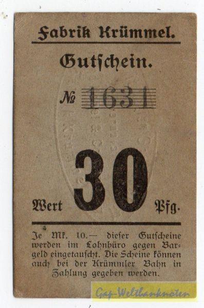 oD, No 2,5 mm, 3 kleiner als 0, mit PSt., n.i.K. - (Sie sehen ein Musterbild, nicht die angebotene Banknote)