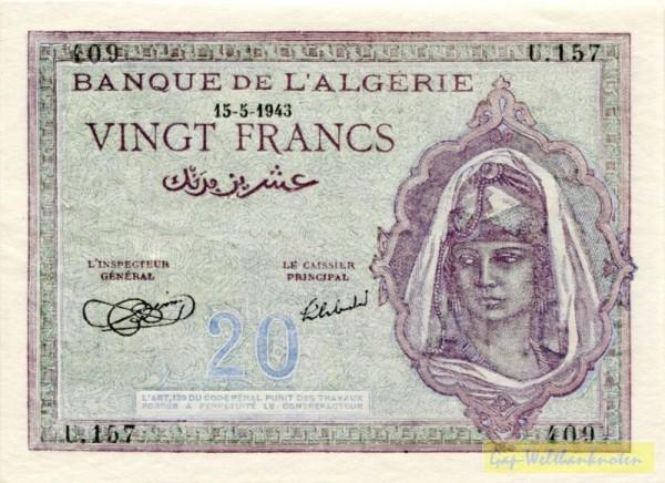 15.5.43 - (Sie sehen ein Musterbild, nicht die angebotene Banknote)