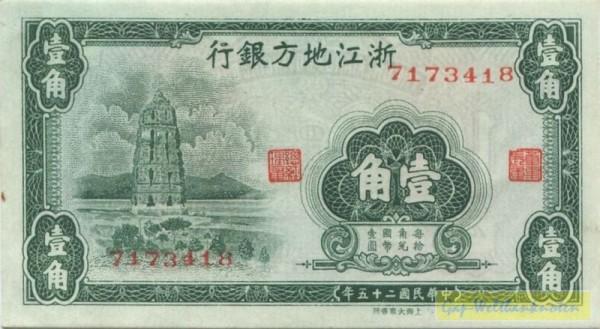 1936, KN - (Sie sehen ein Musterbild, nicht die angebotene Banknote)