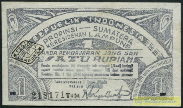 1.6.48, schwarzer Stpl.  - (Sie sehen ein Musterbild, nicht die angebotene Banknote)