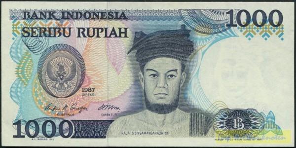 1987 - (Sie sehen ein Musterbild, nicht die angebotene Banknote)