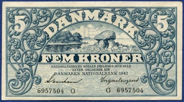 1942G - (Sie sehen ein Musterbild, nicht die angebotene Banknote)