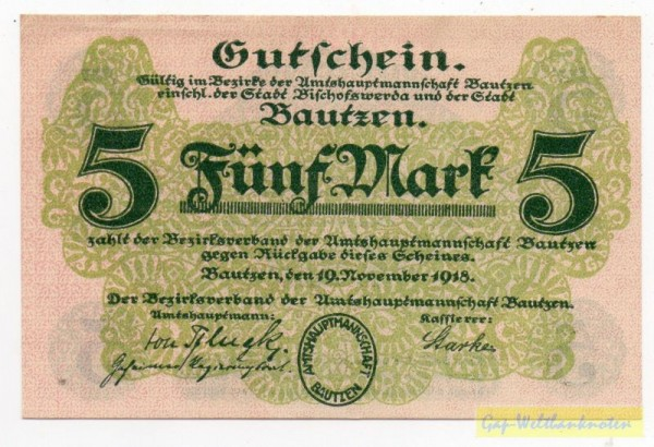 19.11.18 - (Sie sehen ein Musterbild, nicht die angebotene Banknote)