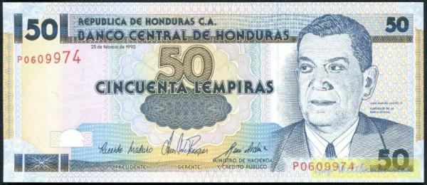 25.2.93, KN rot - (Sie sehen ein Musterbild, nicht die angebotene Banknote)