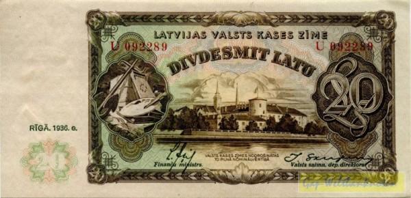1936, Us. 13/11 - (Sie sehen ein Musterbild, nicht die angebotene Banknote)