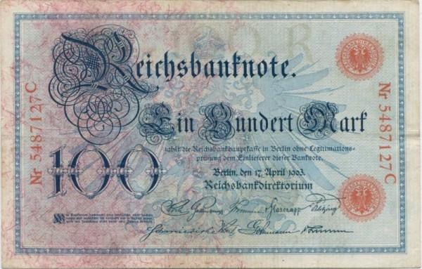 17.4.1903 - (Sie sehen ein Musterbild, nicht die angebotene Banknote)