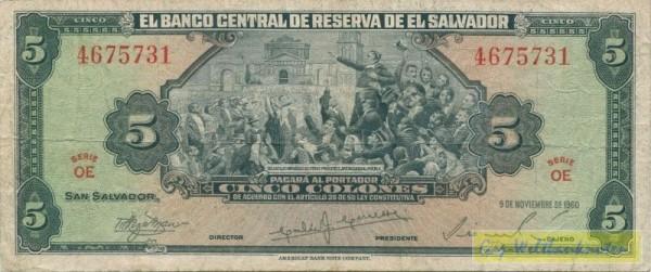 9.11.60 - (Sie sehen ein Musterbild, nicht die angebotene Banknote)