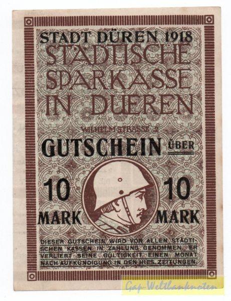 1918, Üdr auf linker Hälfte der 7. Kriegsanleihe - (Sie sehen ein Musterbild, nicht die angebotene Banknote)