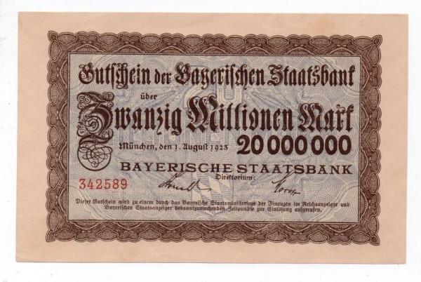 1.8.23 - (Sie sehen ein Musterbild, nicht die angebotene Banknote)