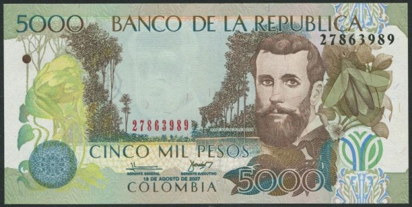 18.8.07 - (Sie sehen ein Musterbild, nicht die angebotene Banknote)
