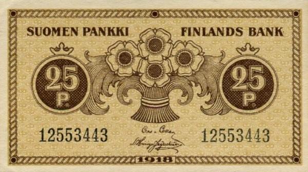 1918 - (Sie sehen ein Musterbild, nicht die angebotene Banknote)