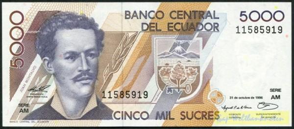 31.10.96, AM - (Sie sehen ein Musterbild, nicht die angebotene Banknote)