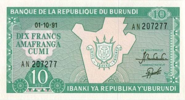 1.10.91 - (Sie sehen ein Musterbild, nicht die angebotene Banknote)