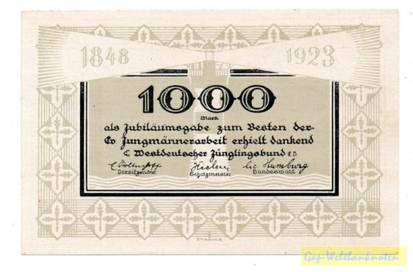 1923 - (Sie sehen ein Musterbild, nicht die angebotene Banknote)