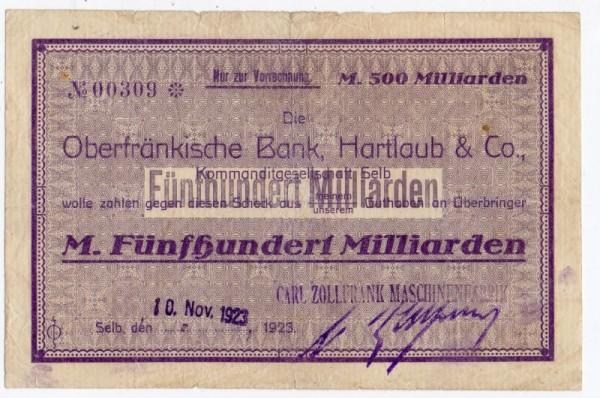 10.11.23, wasserliniert - (Sie sehen ein Musterbild, nicht die angebotene Banknote)