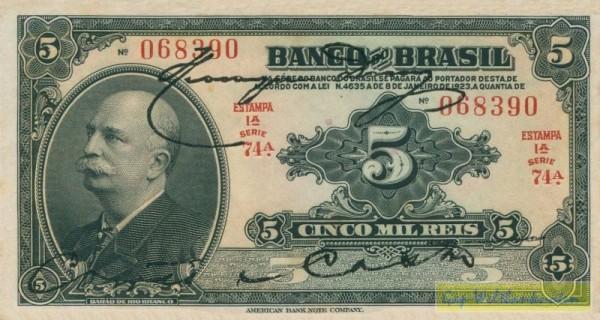 E.1A, L1923, eine HU - (Sie sehen ein Musterbild, nicht die angebotene Banknote)