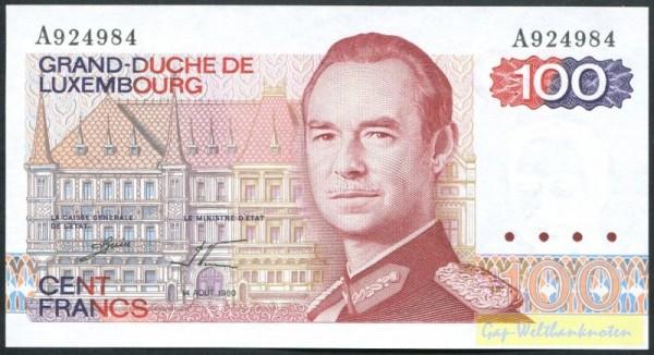 14.8.80, Us. Guill/Werner - (Sie sehen ein Musterbild, nicht die angebotene Banknote)