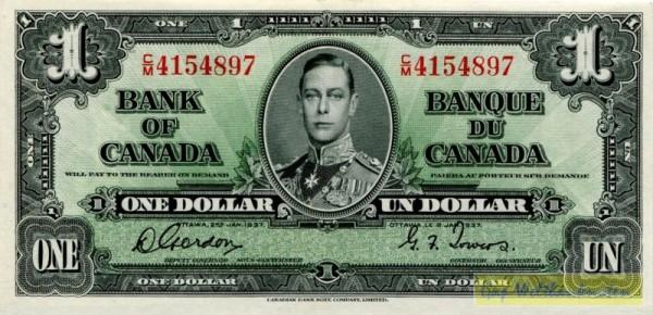 2.1.37, Gordon/Towers - (Sie sehen ein Musterbild, nicht die angebotene Banknote)