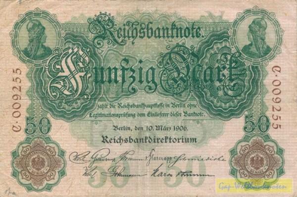 10.3.06, KN 6st - (Sie sehen ein Musterbild, nicht die angebotene Banknote)