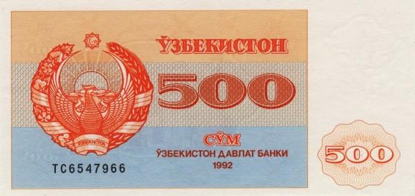 1992, KN aufrecht, klein - (Sie sehen ein Musterbild, nicht die angebotene Banknote)