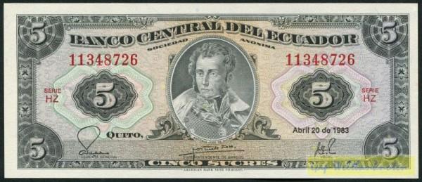 20.4.83, HZ - (Sie sehen ein Musterbild, nicht die angebotene Banknote)