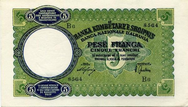 (1939) - (Sie sehen ein Musterbild, nicht die angebotene Banknote)