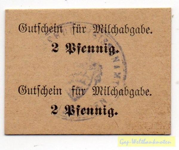 oD, Karton sämisch, Doppelstück - (Sie sehen ein Musterbild, nicht die angebotene Banknote)