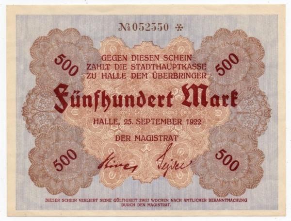 25.9.22, Wz Ovalmuster, № KN 6*s - (Sie sehen ein Musterbild, nicht die angebotene Banknote)