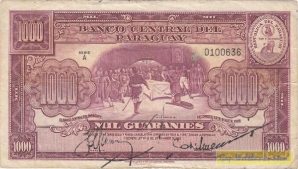 L1952, Papier ohne Fasern, Us. Maya/Méndez - (Sie sehen ein Musterbild, nicht die angebotene Banknote)